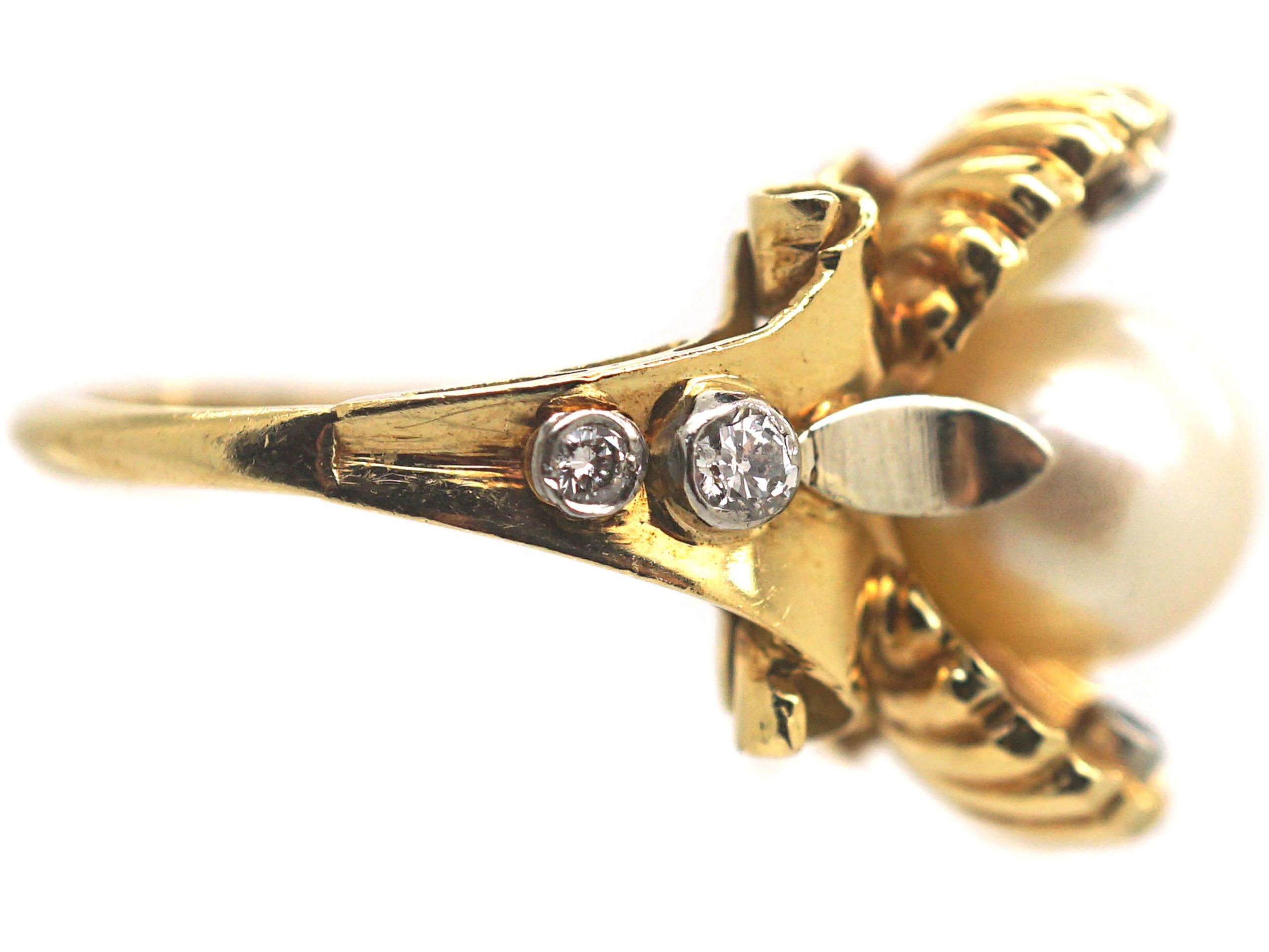 Pearl in The Oyster Shell 18ct Gold Ring