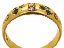 Victorian 18ct Gold, Emerald & Diamond Ring