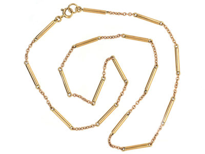 9ct Gold Chain With Tube Design Detail