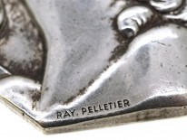 Art Deco Silver Plated Pendant by Ray Pelletier