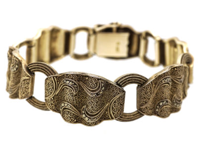 Theodor Fahrner Art Deco Silver & Marcasite Bracelet