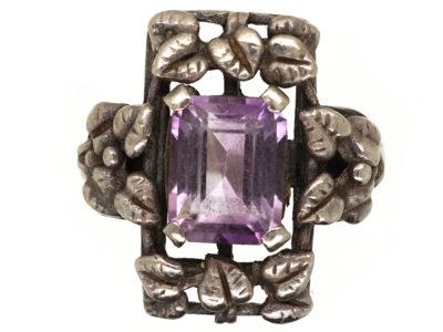 Bernard Instone Silver Amethyst Ring