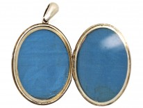 Victorian Silver Oval Locket With Overlap Detail