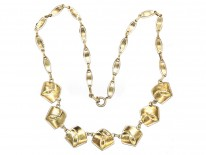 Theodor Fahrner Art Deco Silver Gilt & Marcasite Necklace