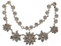 Georgian Cut Steel Flowers Necklace