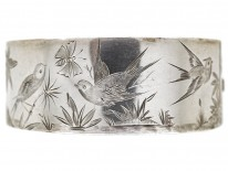 Victorian Silver Swallow Design Bangle