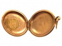 Russian Round 14ct Gold Locket