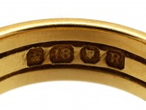 18ct Gold Victorian Plaited Gold Ring