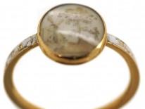 18ct Gold & White Enamel Georgian Memorial Ring
