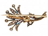 Victorian Diamond Spray Brooch & Pendant