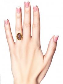 Victorian Cabochon Garnet & Diamond Ring