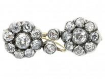 French Diamond Cluster Earrings