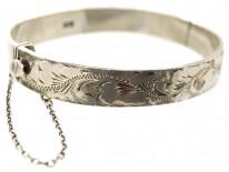 1970s Silver Engraved Bangle