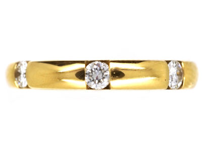 18ct Gold & Diamond Band
