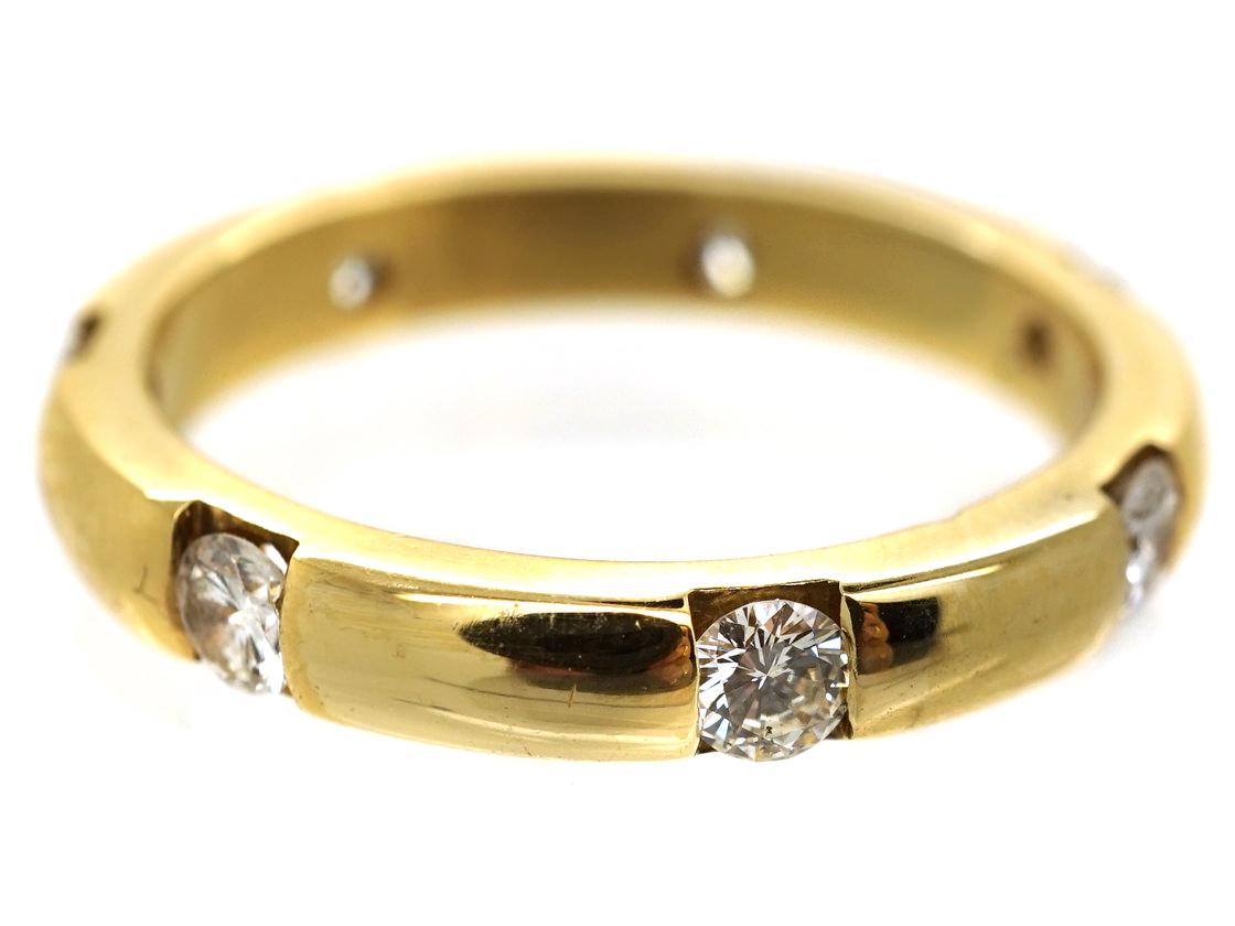 18ct Gold & Diamond Band
