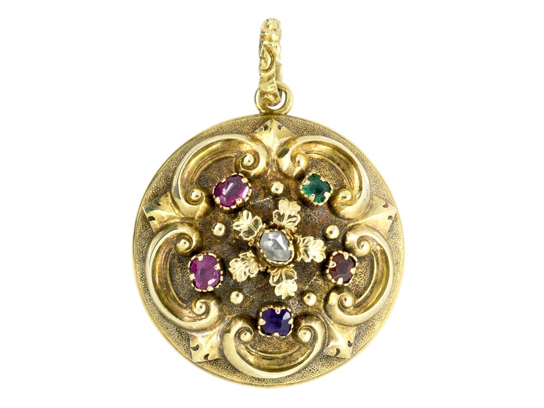 18ct Gold Victorian Regard Locket