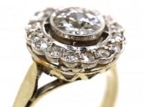 18ct White Gold Diamond Daisy Cluster Ring