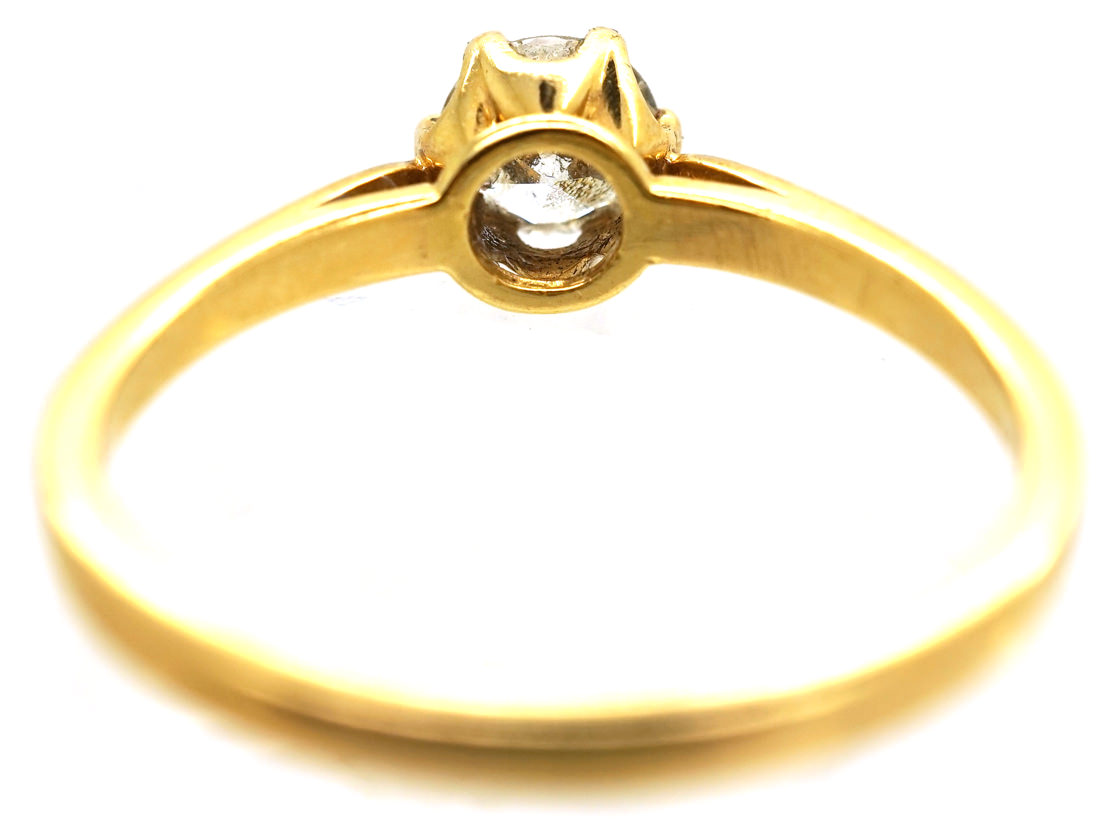 18ct Gold & Diamond Solitaire Ring