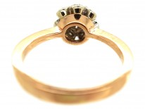 14ct Gold Solitaire Diamond Ring with Diamond Sides