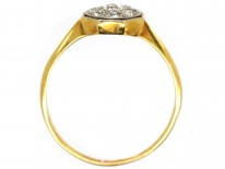Art Deco 18ct Gold & Platinum, Octagonal Diamond Ring