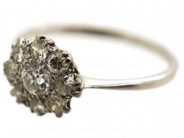18ct White Gold & Diamond Cluster Ring
