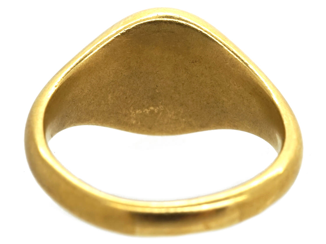 Victorian 18ct Gold Signet Ring of a Unicorn