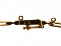 Edwardian 18ct Gold & Platinum, Ruby, Diamond & Natural Pearl Bracelet