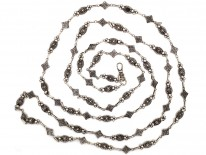 Early 19th Century Silver Ornate Guard Chain