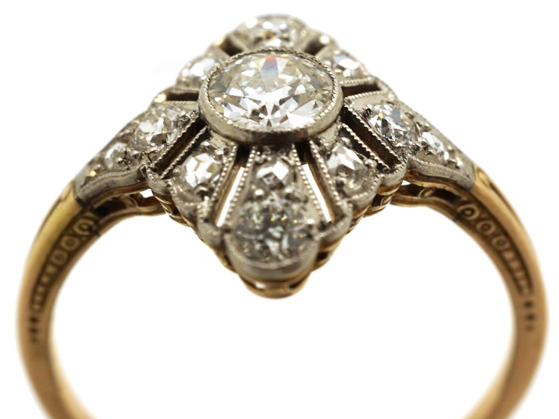 Art Deco Diamond Shaped Diamond Set Ring