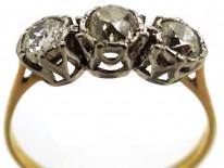 18ct Gold & Diamond Three Stone Ring