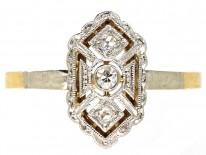 Art Deco 18ct Gold & Diamond Ring