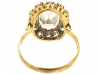 Large Gold & Paste Oval Cluster Ring