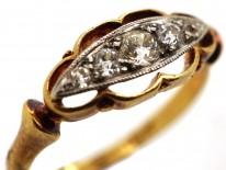 Edwardian 18ct Gold & Five Stone Diamond Ring