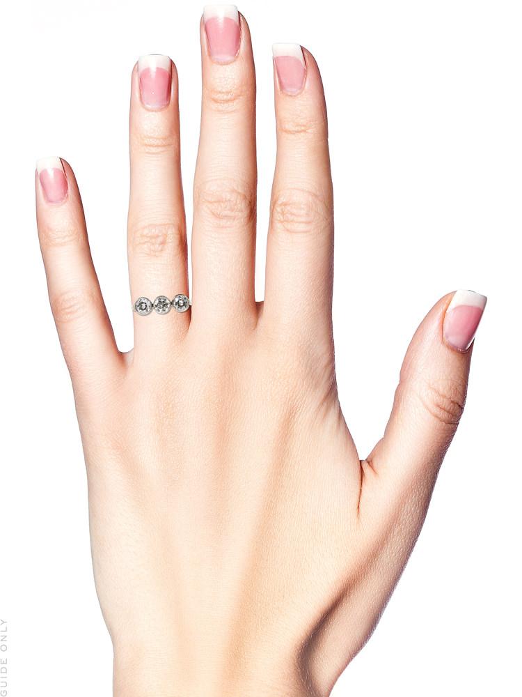 Art Deco Platinum & Diamond Three Stone Ring
