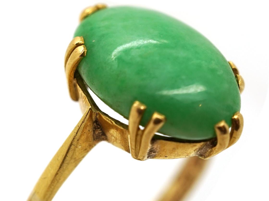 18ct Gold Jadeite Ring
