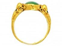 24ct Gold & Jadeite Ring