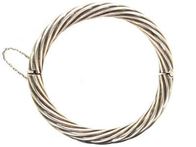 Silver Swirl Design Bangle