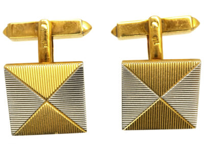 Two Colour 18ct Gold Envelope Design Cufflinks