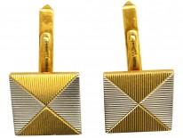 Two Colour 18ct Gold Envelope Design Cufflinks