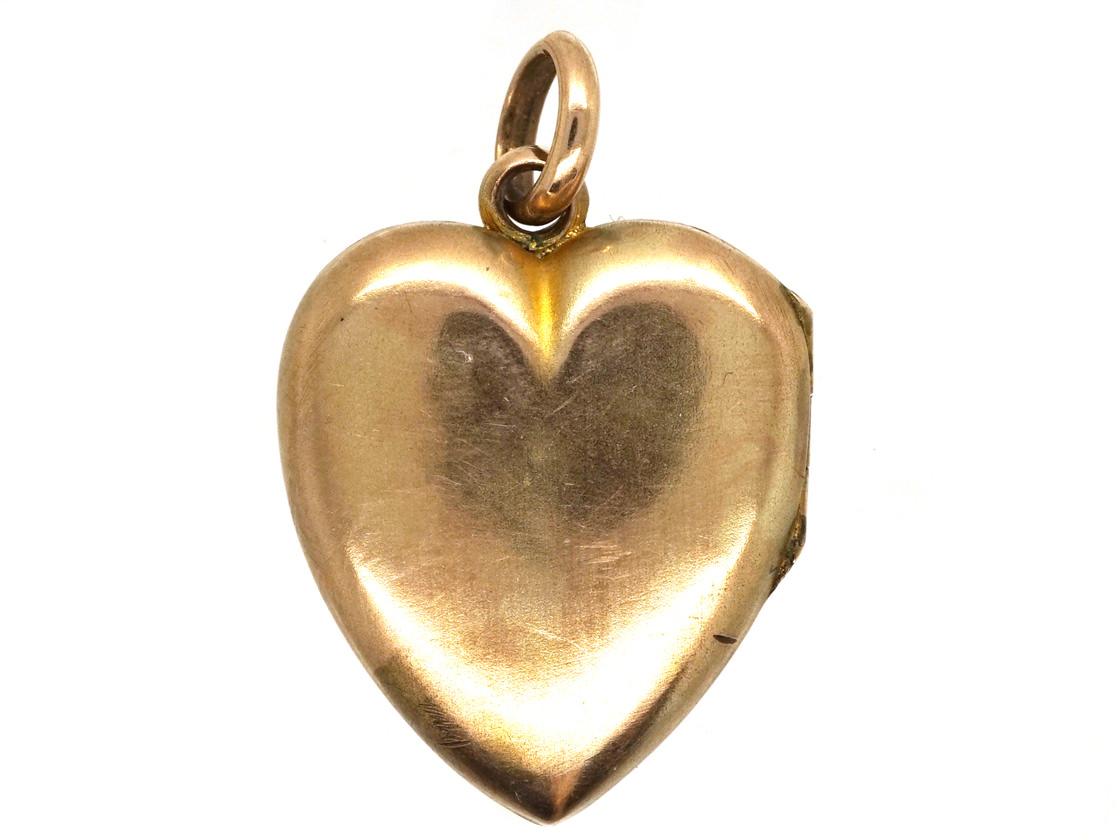 Edwardian 9ct Gold & Pearl Heart Locket