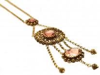 Georgian 18ct Gold & Topaz Pendant on Chain