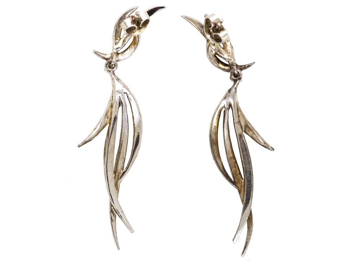 1950s Silver & Marcasite Drop Earrings