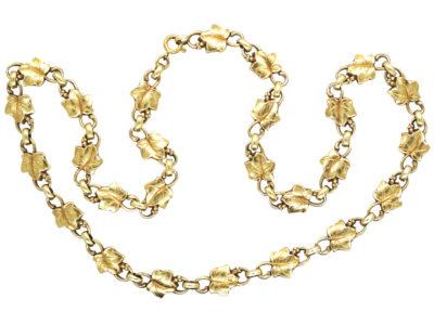 Silver Gilt Ivy Leaf Necklace