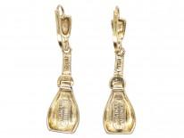 Theodor Fahrner Silver & Marcasite Drop Earrings