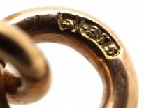 Edwardian 9ct Gold & Garnet Heart Pendant