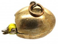 Edwardian Silver Gilt Egg  with Chick Inside