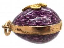 Enamel & Gold Fleur de Lys Easter Egg