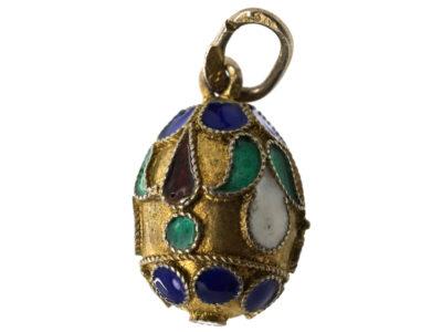 Russian Silver & Enamel Egg