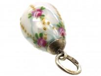 Russian Silver & Enamel Flowers Easter Egg