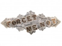 Edwardian Silver & Gold Overlay Forget Me Not Brooch